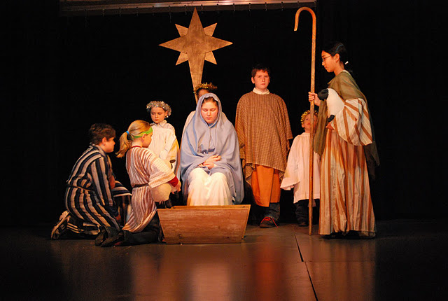 Christmas Pageant - arrival of the Shepherds