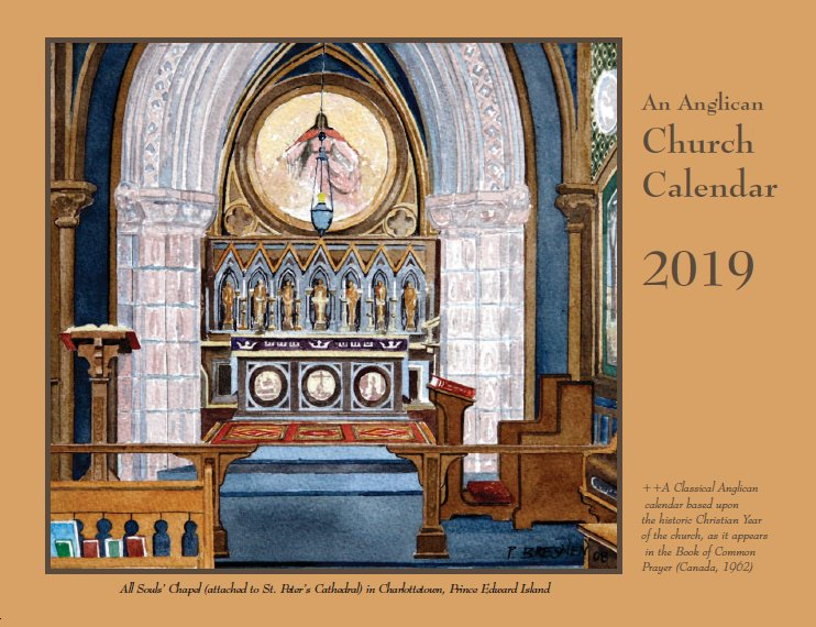 copies of the 2019 an anglican church calendar are now available from st peter publications as of october 1 2018 please do e mail us for details or